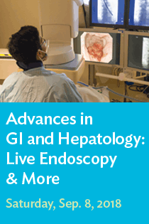 2018 Advances in GI & Hepatology: Live Endoscopy and More Banner