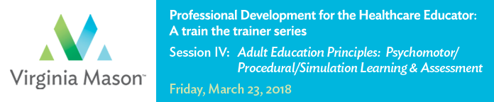 Professional Development for the Healthcare Educator: IV. Adult Education Principles: Psychomotor/Procedural/Simulation Learning and Assessment Banner